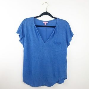 Lilly Pulitzer Blue linen tee